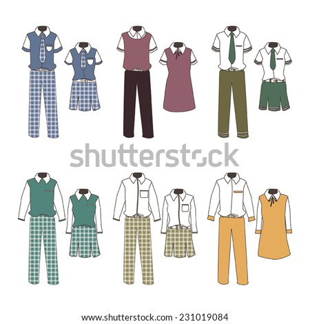 6 boys and girls school uniform