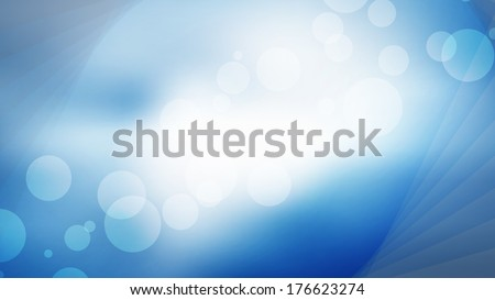 bright blue bokeh background vector Full HD resolution illustration with space for your text