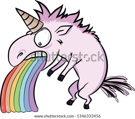 bright pink unicorn person is