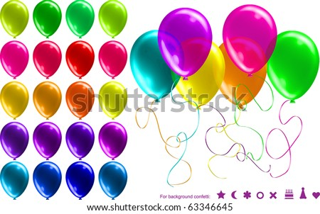26 BRIGHT Transparent Party Balloons