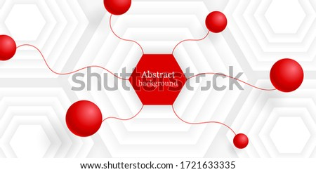 bstract background hexagons
