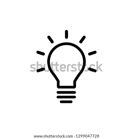 Bulb lamp icon in trendy flat style