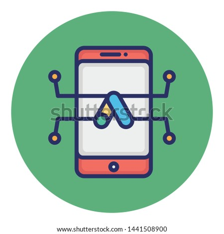 Business app, financial app Vector Icon
