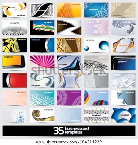 35 business card templates - horizontal