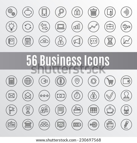 56 Business Icons - Shutterstock ID 230697568
