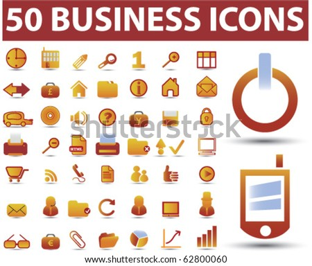 50 business icons. vector