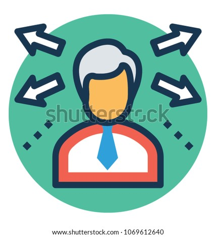 Business planning and Resource Allocation Vector Icon