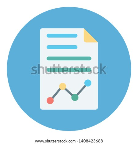 Business report, financial report  Vector Icon