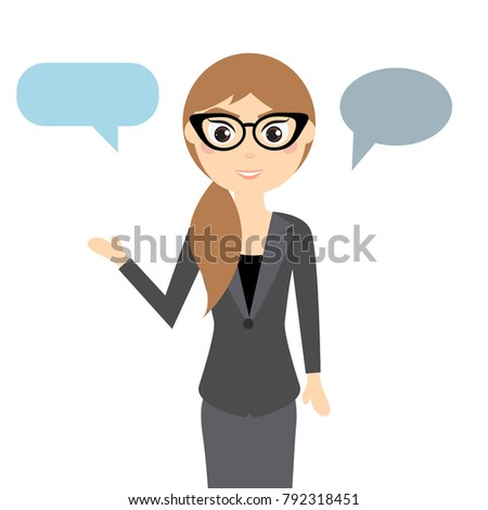 business woman in glasses for