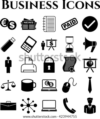 25 businessicon set. Quality Icons.