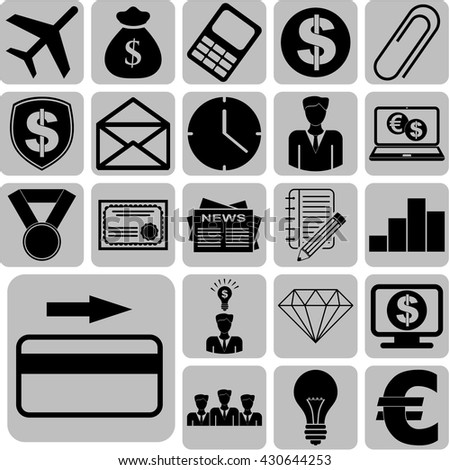 22 businessicon set. Quality Icons.