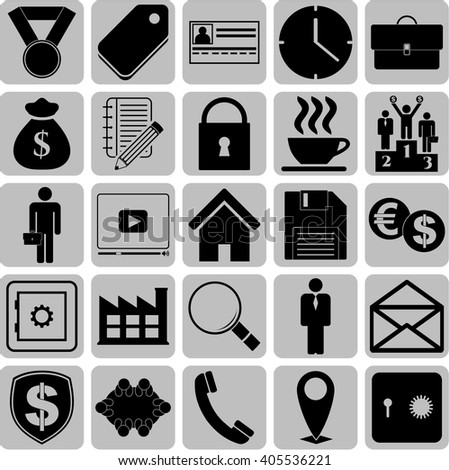 25 businessicon set. Set of web Icons.