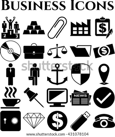 25 businessicon set. Universal and Standard Icons.