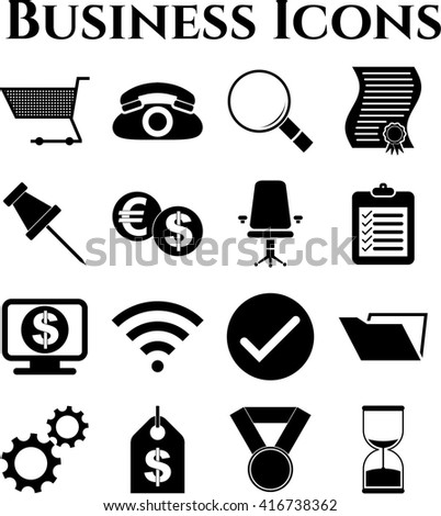16 businessicon set. Universal Modern Icons.