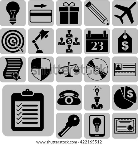 22 businessicon set. Universal Modern Icons.