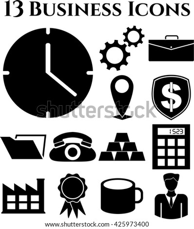 13 businessicon set. Universal Modern Icons.