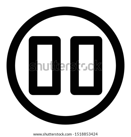 Button, media button  Isolated Vector Icon which can easily modify or edit
