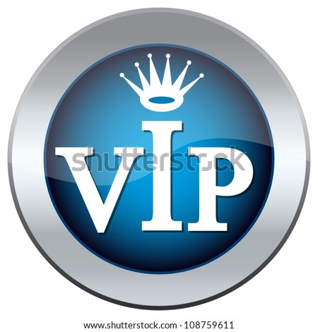 """button with the inscription """"vip"""""""