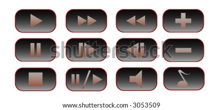 12 buttons for a media player