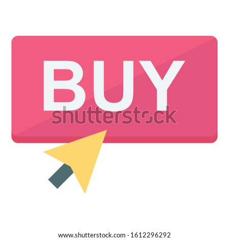 Buy, buy button Color Isolated Vector icon which can be easily modified