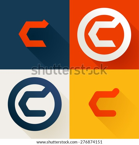 Abstract Colorful Letter C Logo Vector  Free Download