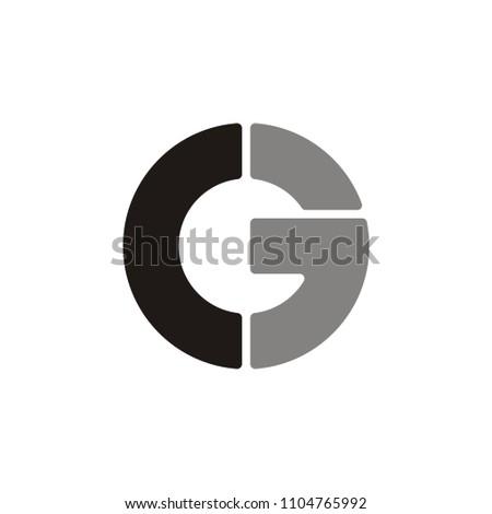 C 3 letter  logo circle.G letter logo circle .C E letter logo circle.unique design.vector illustration Stock fotó ©