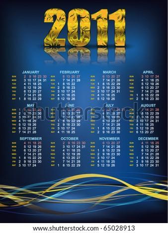 2011 Calendar  Abstract