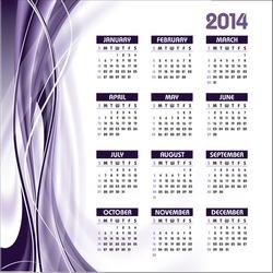 2014 Calendar. Abstract Background.
