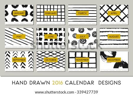 2016 calendar design template