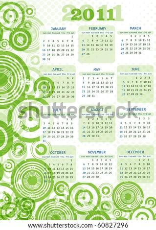 2011 Calendar.10 eps - stock vector