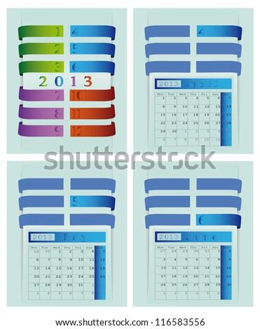 2013 Calendar for Website - stock vector