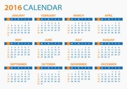 2016 Calendar - illustration