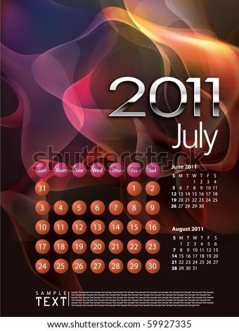 2011 Calendar July