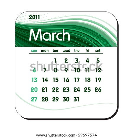 2011 calendar for march. stock vector : 2011 Calendar. March. eps10.