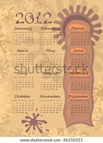 2012 calendar on blots. poster