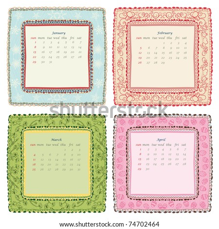 2012 calendar january. stock vector : 2012 calendar.