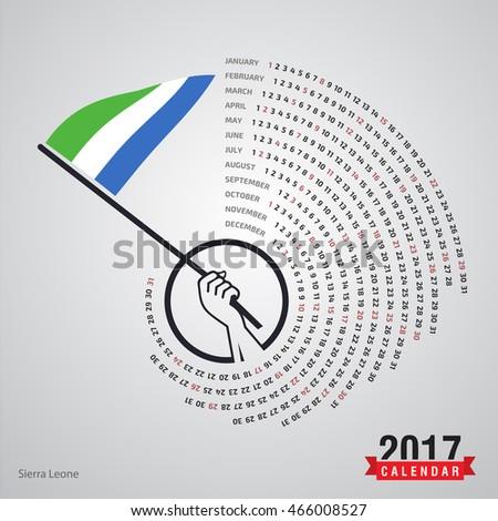 2017 calendar  sierra leone