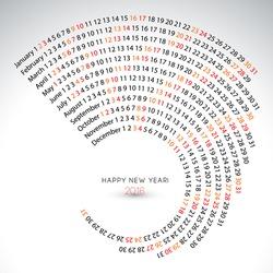2016 calendar, spiral illustration, calendar cover template