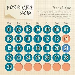 2016 Calendar Template : Vector Illustration