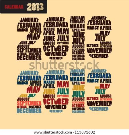 2013 calendar title