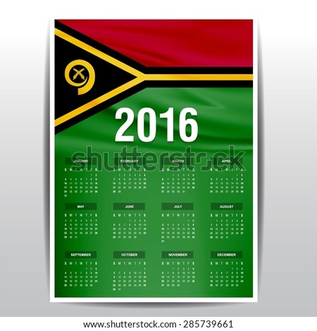 2016 calendar   vanuatu country