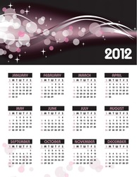 2012 Calendar. Vector Background.