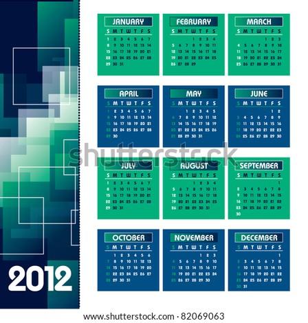 2012 Calendar. Vector Background. Eps10.