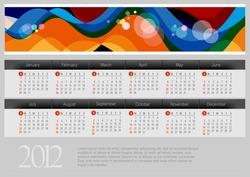 2012 Calendar. Vector illustration