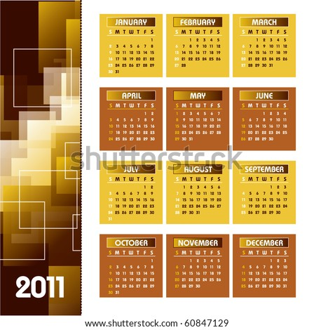 2011 Calendar. Vector Illustration. eps10.