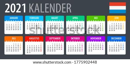 2021 calendar   vector template