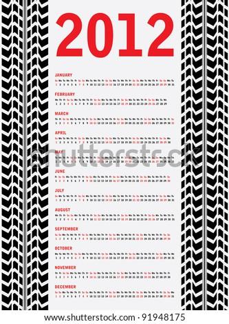 2012 calendar with special