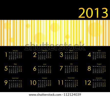 2013 calendar with special design