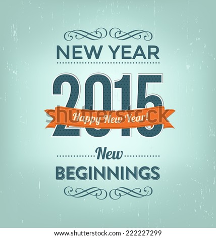 2015 - Calligraphic New Year Greeting Design