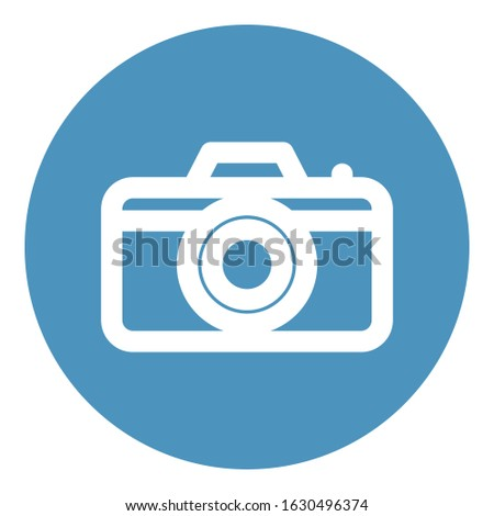 Camera, digital camera Icon which can be easily modified or adit